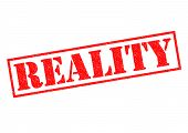 picture of realism  - REALITY red Rubber Stamp over a white background - JPG