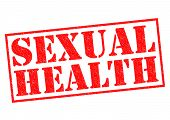 picture of sexuality  - SEXUAL HEALTH red Rubber Stamp over a white background - JPG