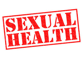 stock photo of std  - SEXUAL HEALTH red Rubber Stamp over a white background - JPG