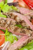 stock photo of cheese-steak  - Grilled Beef Wraps  - JPG