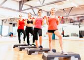 picture of step aerobics  - fitness - JPG