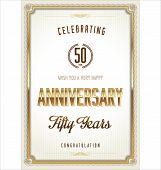 picture of 50s  - 50 years Anniversary vintage retro background - JPG