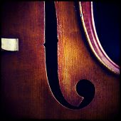 picture of double-bass  - Close - JPG