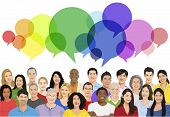 picture of diversity  - Vector of Multiethnic Diverse Cheerful People - JPG