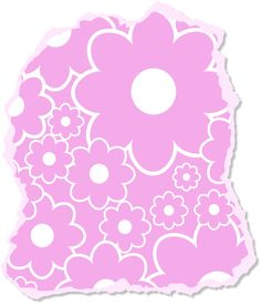 foto of scrappy  - Illustration of a ripped and torn scrappy piece of paper with a floral design - JPG