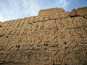 picture of ankh  - wall characters in the Temple of Amun - JPG