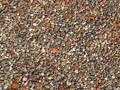 Textures of colourful  small stones poster