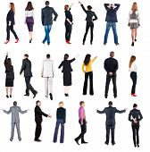 foto of side view people  - collection  - JPG