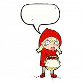 pic of little red riding hood  - little red riding hood cartoon with speech bubble - JPG