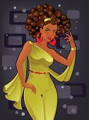 Beautiful African American Woman poster