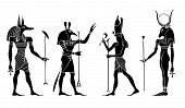 image of anubis  - Various Egyptian gods and  goddess.