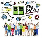 picture of diversity  - Diversity People Big Data Management Teamwork Celebration Concept - JPG