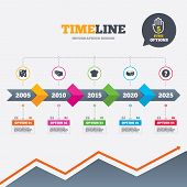 stock photo of meals wheels  - Timeline infographic with arrows - JPG