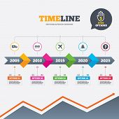 foto of ship  - Timeline infographic with arrows - JPG