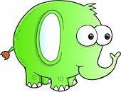 stock photo of goofy  - Silly goofy Elephant Vector Illustration Art - JPG