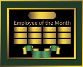 pic of employee month  - Office information board Employee of the Month - JPG