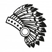 stock photo of headdress  - Native american indian headdress  - JPG