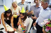 foto of office party  - Celebrating a colleague - JPG