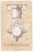 image of architecture  - Vintage sheet manuscript  - JPG
