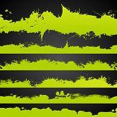 Постер, плакат: Grunge Acid Color Drawn Splashes Set
