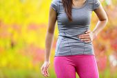 stock photo of stomach  - Side cramps  - JPG