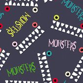 picture of monsters  - Decorative pattern monsters - JPG