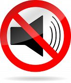 picture of ban  - Sign icon ban sound - JPG