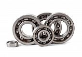picture of bearings  - Bearings on a white background - JPG