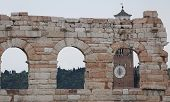 image of arena  - detail of the exterior of the Arena in Verona City in Italy - JPG