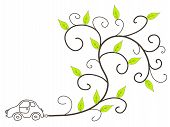 picture of environmentally friendly  - Green car  - JPG