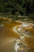 picture of thermal  - Image of picturesque thermal springs in Thermopiles Greece - JPG