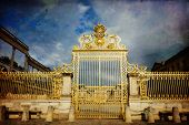 stock photo of versaille  - Royal Garden in the Versailles Castle in vintage style Paris France Unesco - JPG