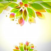 image of decorative  - Summer and spring floral decorative element - JPG