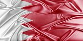 stock photo of bahrain  - Bahrain Flag - JPG