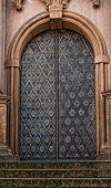 picture of stepping stones  - Steps leading to an ornamental cathedral door set in ornate stone - JPG