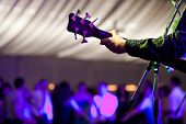 picture of guitarists  - Guitarist on stage - JPG