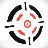 picture of crosshair  - Crosshair reticle vector graphics - JPG