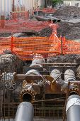 picture of pipeline  - Replacement of underground water pipeline  - JPG