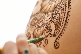 stock photo of mehndi  - Art of mehndi - JPG