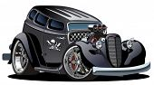 stock photo of street-rod  - Vector cartoon hotrod - JPG