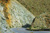 picture of anza  - Mountain road to Anza Borrego Desert  - JPG