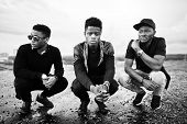 Three Rap Singers Band On The Roof poster