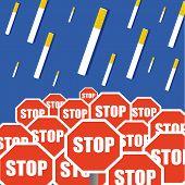 Постер, плакат: Stop Smoking Concept