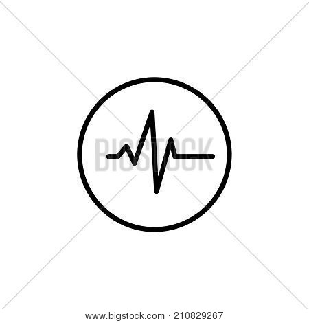 poster of Modern cardiogram line icon. Premium pictogram isolated on a white background. Vector illustration. Stroke high quality symbol. Cardiogram icon in modern line style.