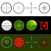 stock photo of crosshair  - Vector Target Crosshairs - JPG