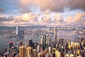 Hong Kong landmark view from the peak poster