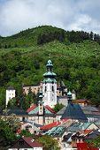 pic of banska  - Old castle and old town in Banska Stiavnica Slovakia - JPG