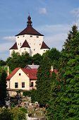 picture of banska  - New Castle and cemetery in Banska Stiavnica - JPG