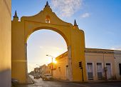 Merida Arch and Quarter of Dragons dragones in Yucatan Mexico poster