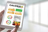 Calorie  Counting Counter Application Medical Eating Healthy Diet Concept poster